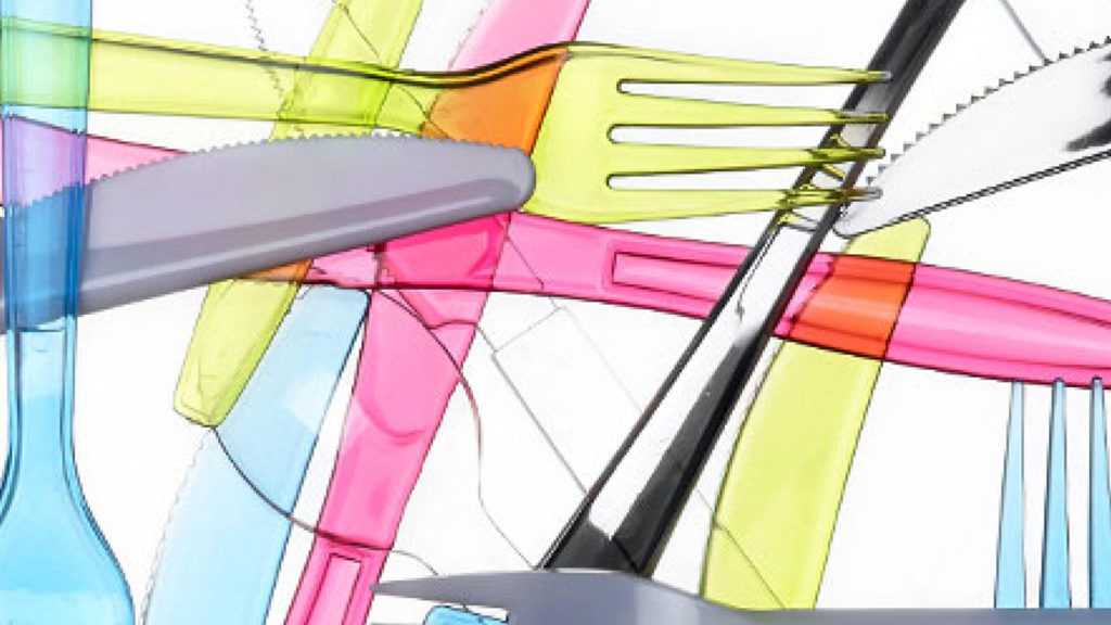 Plastic Knives and Forks in different colours